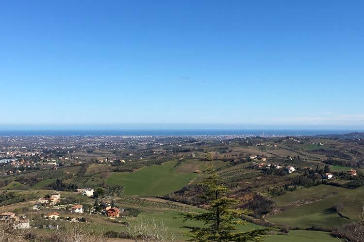 Costa Romagnola - Panorama da Verucchio